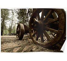 Rustic Wagon Poster
