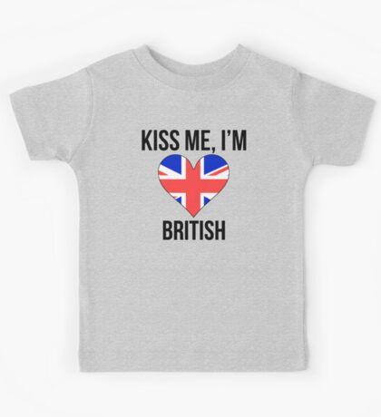 Kiss Me I'm British Kids Tee