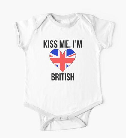 Kiss Me I'm British One Piece - Short Sleeve