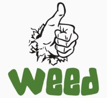 I Love Weed by MarijuanaTshirt