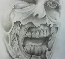zombie face by teller80