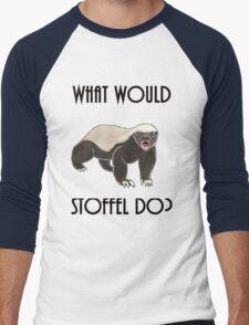 What would Stoffel do? Men's Baseball ¾ T-Shirt