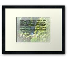 Genesis 1 24-31  Let the earth bring forth the living creature Framed Print