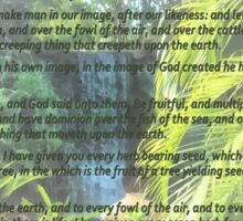 Genesis 1 24-31  Let the earth bring forth the living creature Sticker