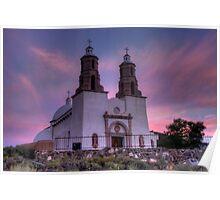 Dawn at Sangre de Cristo Catholic Church Poster