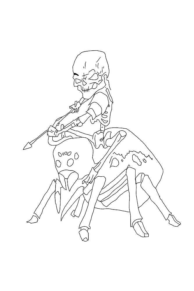 Spider Jockey by Tettvy