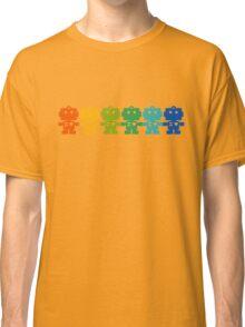 Rainbow Robots holding hands Classic T-Shirt
