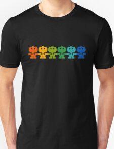 Rainbow Robots holding hands T-Shirt