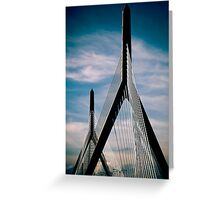 Boston Bridge Greeting Card