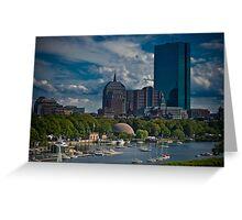 Boston Back Bay Greeting Card