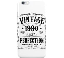Year Of Birth 1990 Text Black iPhone Case/Skin