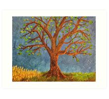 Tree in oils Art Print