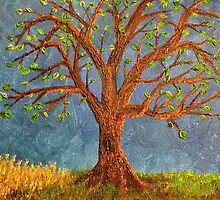 Tree in oils by kathrynhack