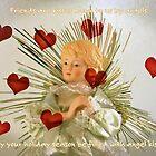 Angel Kisses Holiday Card by CarolM