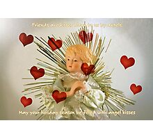 Angel Kisses Holiday Card Photographic Print