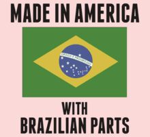 Made In America With Brazilian Parts Kids Tee