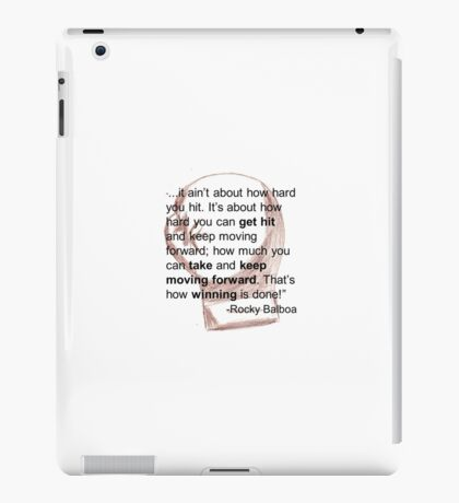 Rocky Balboa Illustrated Quote How Hard You Get Hit Boxing Glove Inspirational iPad Case/Skin