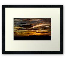 Heavenly Rays  Framed Print