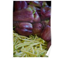 Purple Peppers and Yellow Beans Poster