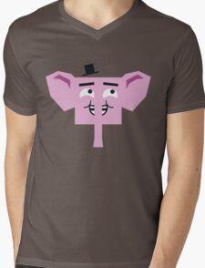 Gentlelephant Mens V-Neck T-Shirt