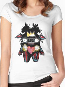 Basquiat Monster Women's Fitted Scoop T-Shirt