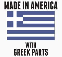 Made In America With Greek Parts Kids Tee