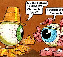 Rabbit's chocolate eggs by Cameron Bullen