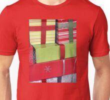 Lime and Red Christmas Packages Unisex T-Shirt
