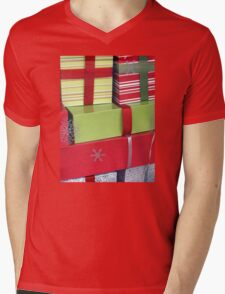 Lime and Red Christmas Packages Mens V-Neck T-Shirt