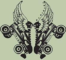 Roller Derby Skates With Wings by tarafly