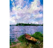 Summer landscape with boat Photographic Print