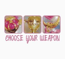 Choose Your Weapon Sailor Moon Style by bunnyparadise