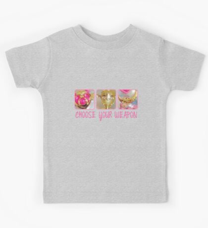 Choose Your Weapon Sailor Moon Style Kids Tee