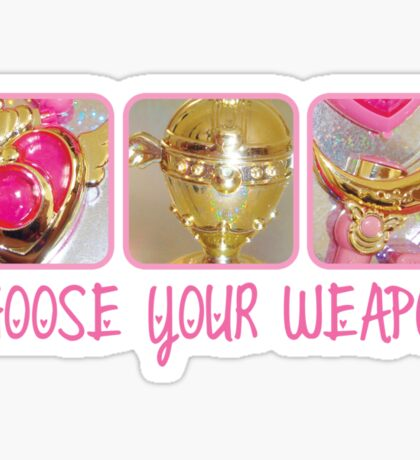 Choose Your Weapon Sailor Moon Style Sticker
