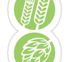 BEER: Water, Barley, Hops & Yeast Sticker