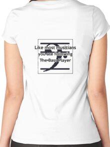 Follow the Bass Women's Fitted Scoop T-Shirt