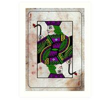 Joker Playing Card Art Print