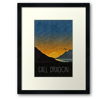 Tamriel Shout - Call Dragon Framed Print