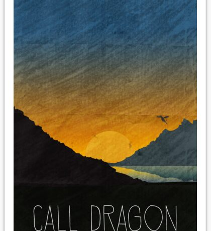 Tamriel Shout - Call Dragon Sticker