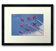 Top Pass - Red Arrows - Dunsfold 2012 Framed Print