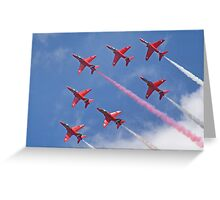 Top Pass - Red Arrows - Dunsfold 2012 Greeting Card