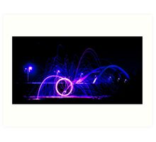 Wirewool Spinning - Newport SDR Bridge Art Print
