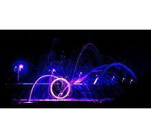 Wirewool Spinning - Newport SDR Bridge Photographic Print