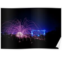 Wirewool Spinning and Newport Transporter Bridge Poster