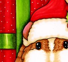 Guinea Pig Holiday Sticker