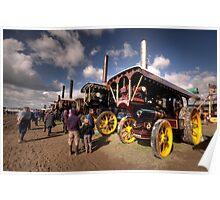 Showmans Engines at Dorset  Poster