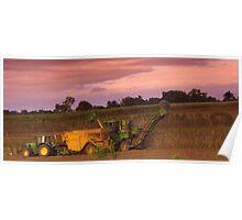 John Deer Tractor and harvester Poster