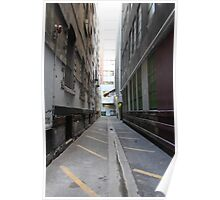 Alleys in the city Poster