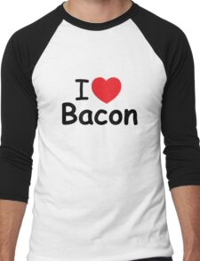 I Love Bacon.  Men's Baseball ¾ T-Shirt