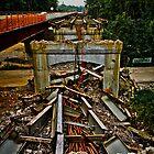 Huguenot Bridge is falling down, falling down!  by daveknowshow